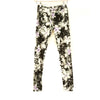 Black and Lilac Floral Workout Pants