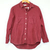 Madwell Burgundy White Button Flannel