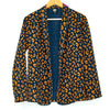 Boheau Navy and Coffee Cheetah Print Open Cardigan