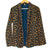 Navy/Coffee Cheetah Print Open Cardigan (Boheau)