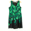DC Black and Green Watercolor Evening Dress