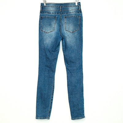 Refuge 3 Button Waist Skinny Jeans