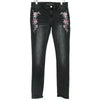 White House Black Market Floral Embroidered Skinny Jeans