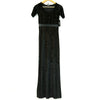 Lulus Black Plush Empire Dress