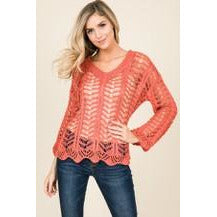 Crochet Pattern Bell Sleeve Sweater - New2You Lx