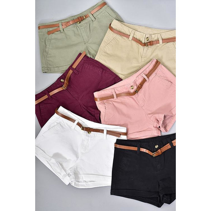 Neutral Twill Shorts