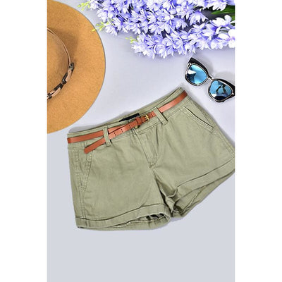 Neutral Twill Shorts (Trend Shop)
