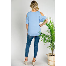 Load image into Gallery viewer, Cold Shoulder Button Down Blouse (E LUNA)