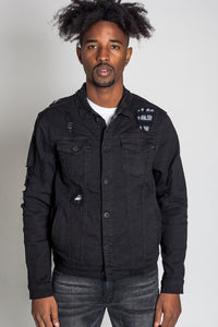 Paisley Patch Denim Jacket (Kdnk) - New2Youlx