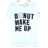 Pink 'Donut Wake Me Up' Graphic Tee