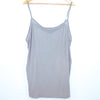 Lane Bryant Grey Sheer Trim Tank Top