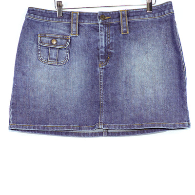 The Limited Stretch Blue Denim Skirt
