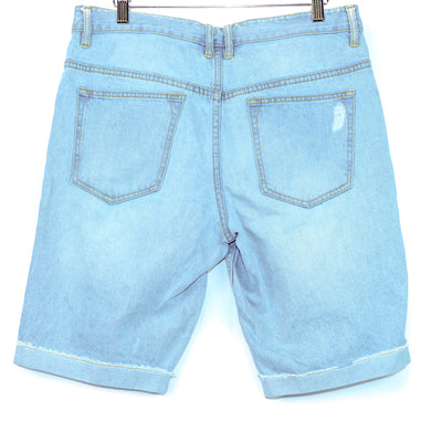 Empyre Light Wash Distressed Denim Shorts