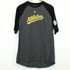 Majestic Grey and Black Oakland A's Baseball Tee