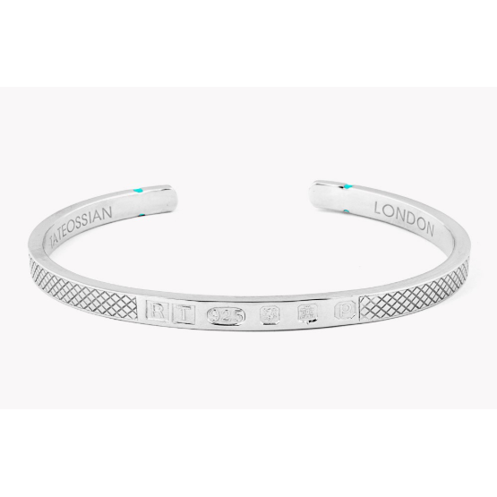 Limited Edition Silver Hallmark Bangle (Tateossian London) - New2Youlx