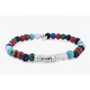 Disc Round Multicolour Mixed Beaded Bracelet With Silver Spacer Discs (Tateossian London) - New2Youlx