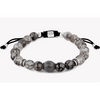 Macrame Stratus Silver Bracelet - Fire Agate (Tateossian London) - New2Youlx