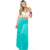 Aqua Long Line Maxi Satin Skirt (Tasha Apparel)