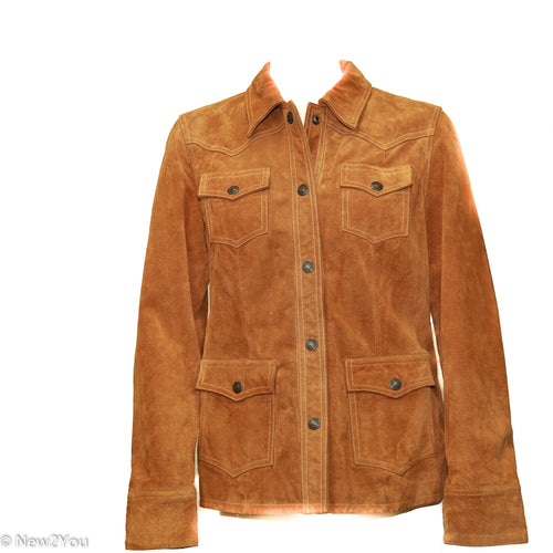 Caramel Colored Genuine Leather Jacket - New2You LX