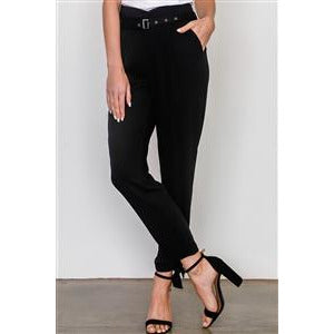 BLACK TIED WOVEN PANTS - New2You LX