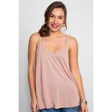 Load image into Gallery viewer, Mauve Soft Solid Braided Strap Tank Top