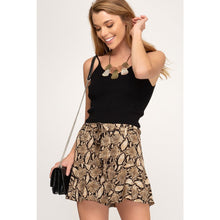 Load image into Gallery viewer, SNAKE SKIN SKORT