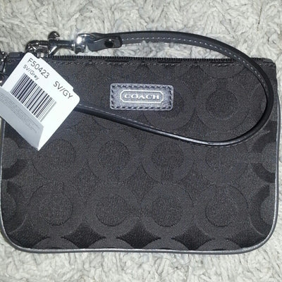 Coach Op Art Wristlet In Signature Canvas