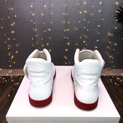 Hi-Top Double Strap Shoes Future White with Red Soles (Maison Margiela)