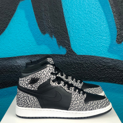 Air Jordan 1 Retro High Premium GS 'Black Elephant'