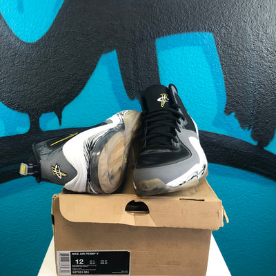 Air Penny 5 'Black Grey Tour Yellow'