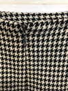 Burberry London Houndstooth Plaid Pencil Skirt