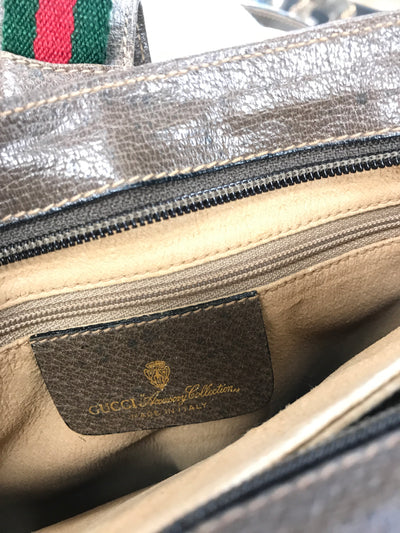 Gucci Vintage Ophidia Monogram Brown Canvas Cross Body