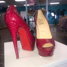 Load image into Gallery viewer, Lady Peep 150 Python Crystal Heels (Louboutin)