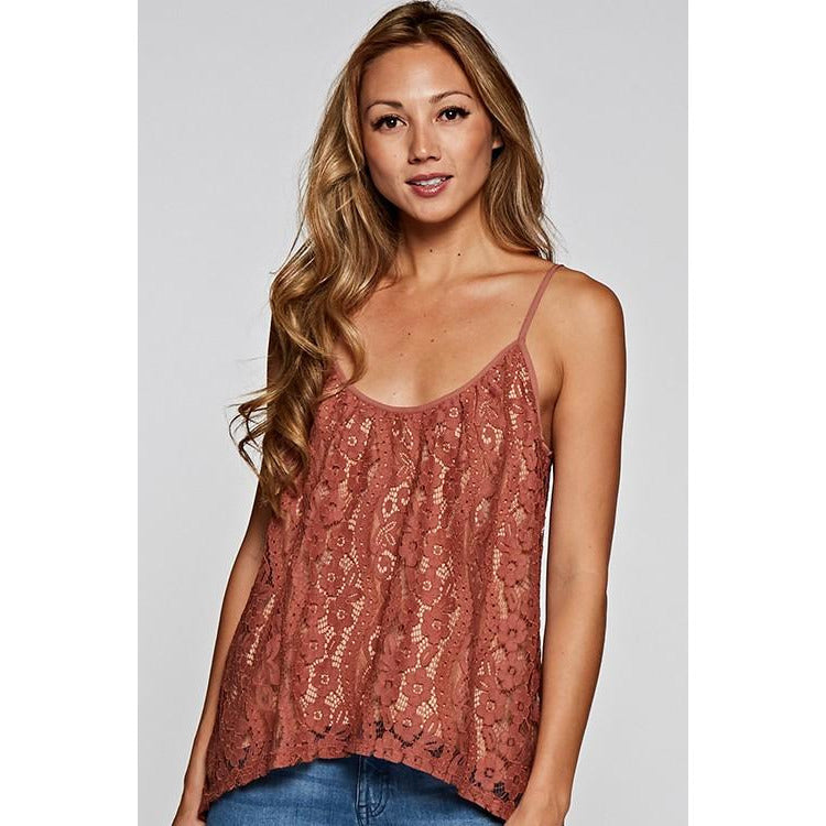 All Over Floral Lace Camisole Top - New2You LX