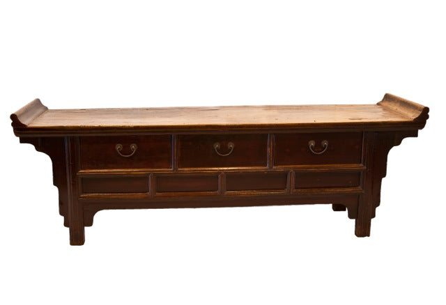 low altar table with 3 drawers