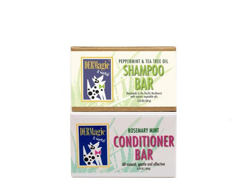 DERMagic Peppermint Shampoo Bar & Rosemary Mint Conditioner
