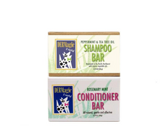 DERMagic Peppermint Shampoo Bar & Rosemary Conditioner Bar for Dog