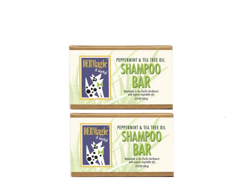 DERMagic Peppermint Tea Tree Oil Organic Shampoo Bar x 2