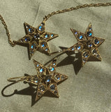 FANCY STAR NECKLACE - MOONSTONES