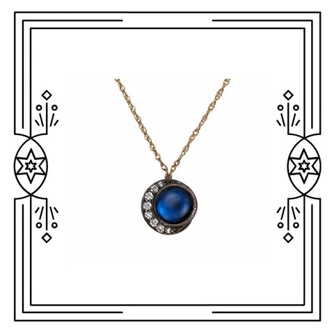 SMALL FULL BLUE MOON NECKLACE