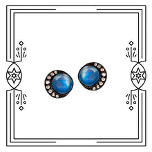 Load image into Gallery viewer, SMALL FULL BLUE MOON EARRINGS