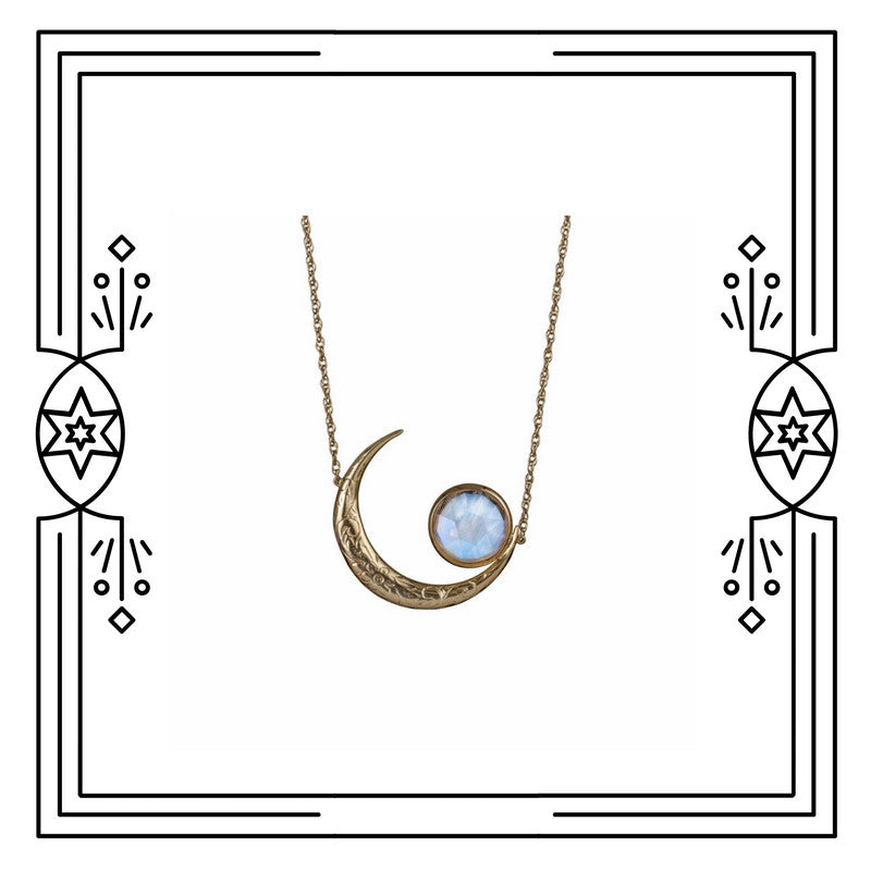 BIG MOON CRADLE NECKLACE - AVAILABLE FOR CUSTOM ORDER