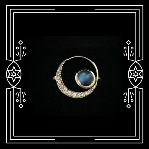 BIG MOON CRADLE RING - AVAILABLE FOR IMMEDIATE SHIPMENT.