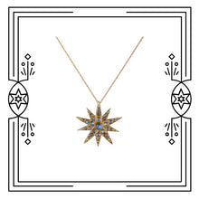 Load image into Gallery viewer, CELESTIAL STAR NECKLACE, MOONSTONES (PRE-ORDER)