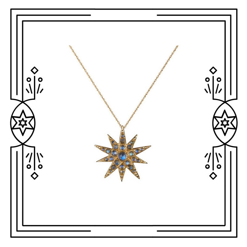 CELESTIAL STAR NECKLACE, MOONSTONES (PRE-ORDER)