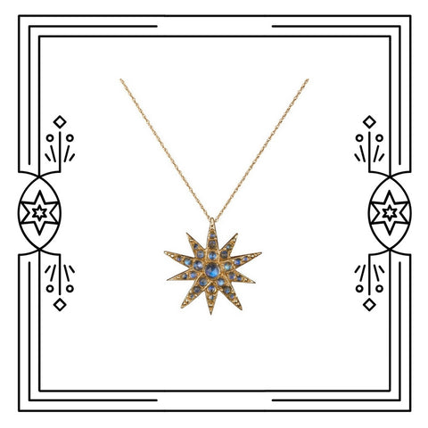 CELESTIAL STAR NECKLACE - AVAILABLE FOR IMMEDIATE SHIPMENT