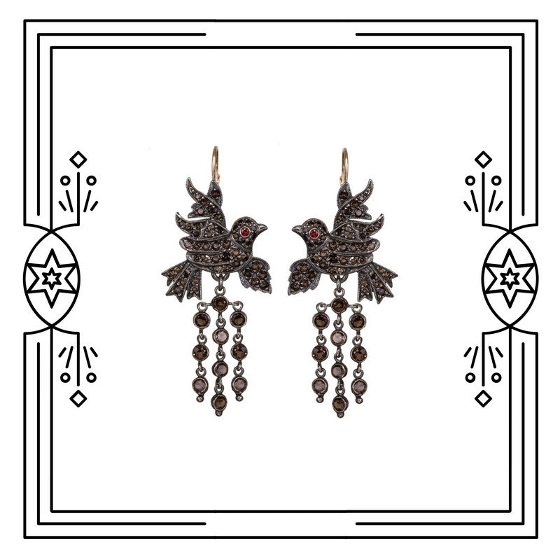 BAROQUE BIRD EARRINGS - AVAILABLE FOR CUSTOM ORDER.