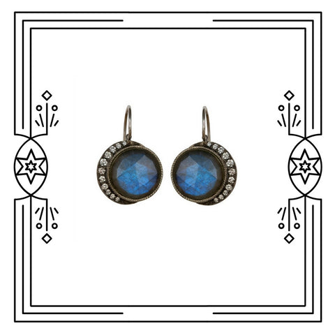 FULL BLUE MOON DANGLE EARRINGS