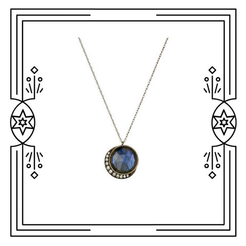 BIG BLUE MOON NECKLACE