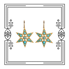 Load image into Gallery viewer, FANCY STAR EARRINGS, TURQUOISE (PRE-ORDER)